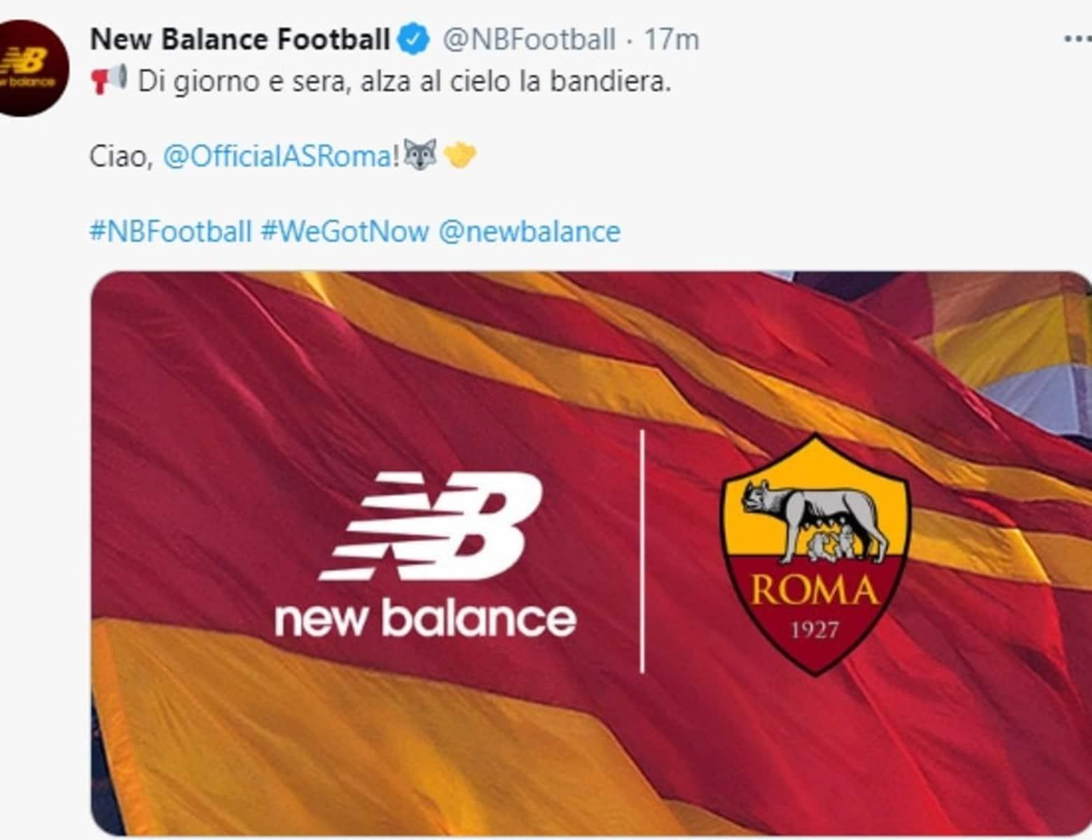 Roma, New Balance e il tweet da Curva Sud: tifosi pazzi