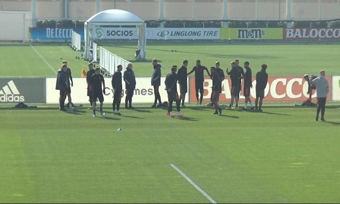Allenamento Juve: Dybala e Ramsey in gruppo