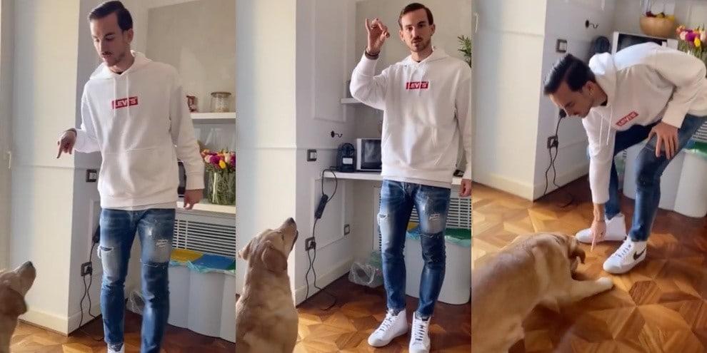 Fabian Ruiz fa allenare così il suo cane