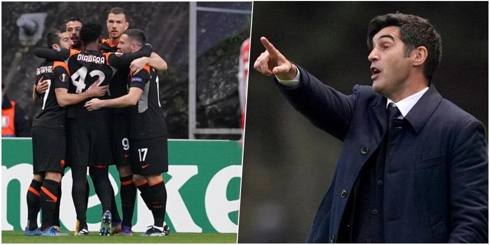 Dzeko-Borja Mayoral, staffetta gol per Fonseca: la Roma batte il Braga