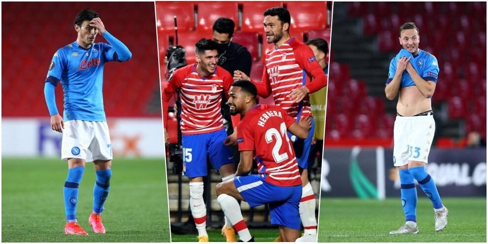 Napoli, il volto della delusione: ko a Granada in Europa League