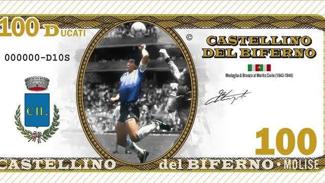In Molise si paga con le banconote di Maradona