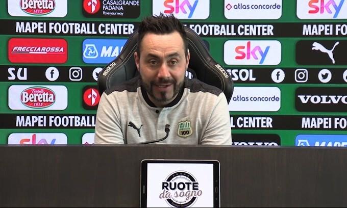 """De Zerbi: """"Il Sassuolo è stabile dopo le migliori 7 d'Italia"""""""