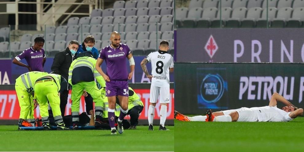 Paura Marchizza: colpo alla testa in Fiorentina-Spezia