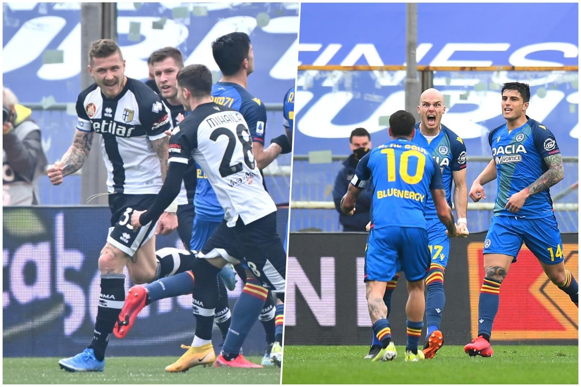 Il Parma si illude, l'Udinese rimonta: 2-2 show al Tardini