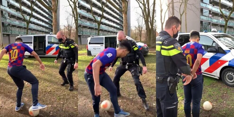 Clamoroso: fa il tunnel al poliziotto e viene arrestato!