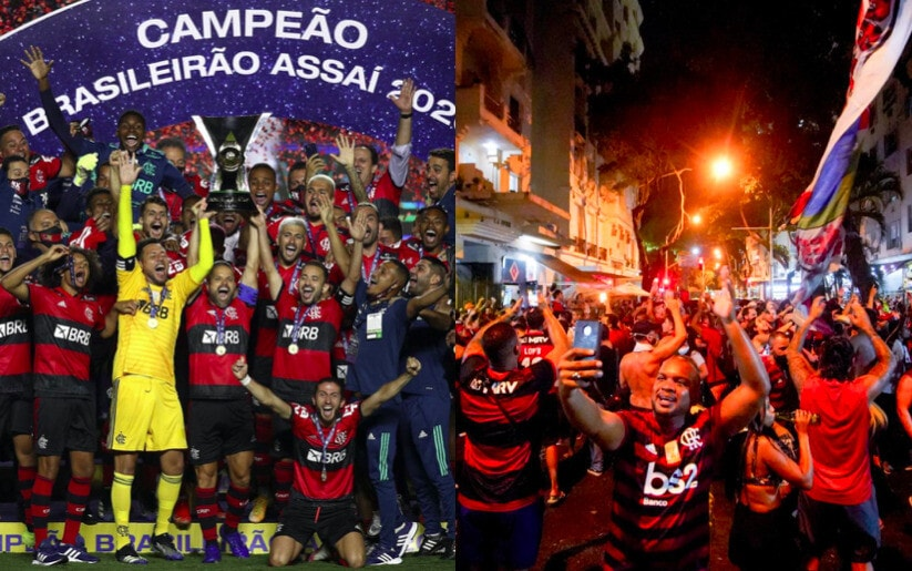 Flamengo campione, grande festa in campo e in città