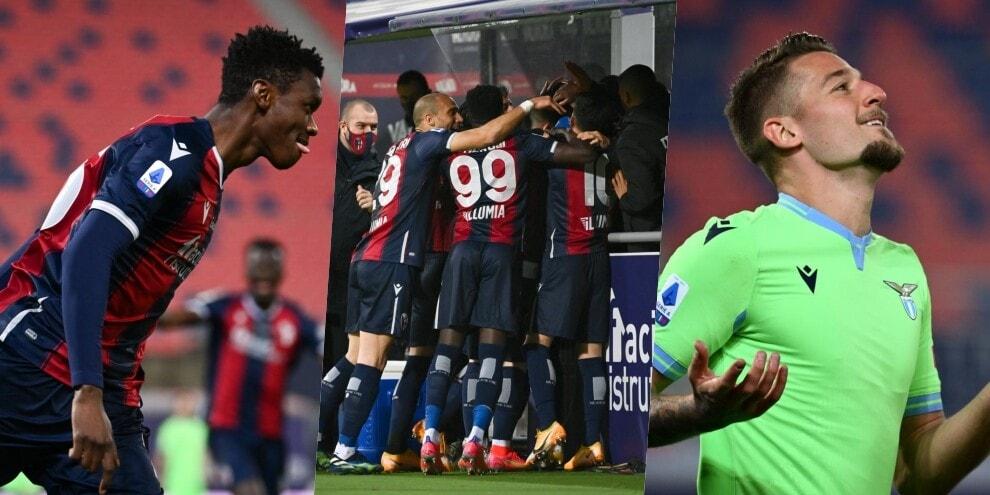 La Lazio crolla a Bologna: 2-0 con Mbaye e Sansone