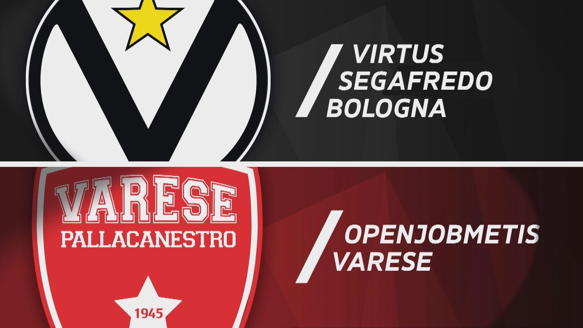 Virtus Segafredo Bologna - Openjobmetis Varese 85-76