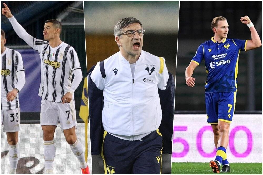 Il Verona ferma la Juve: Barak risponde a Cristiano Ronaldo