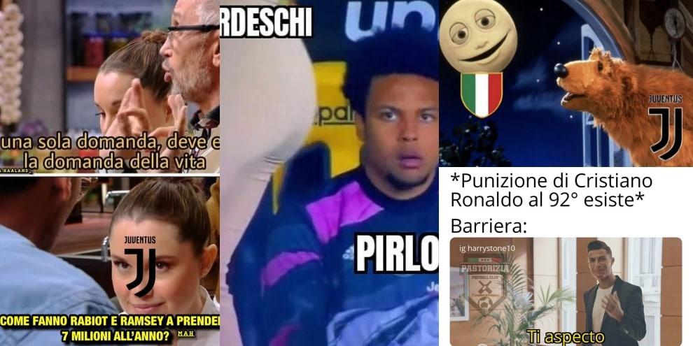 Verona-Juve: l'ironia dei tifosi colpisce Ramsey, Rabiot e Ronaldo