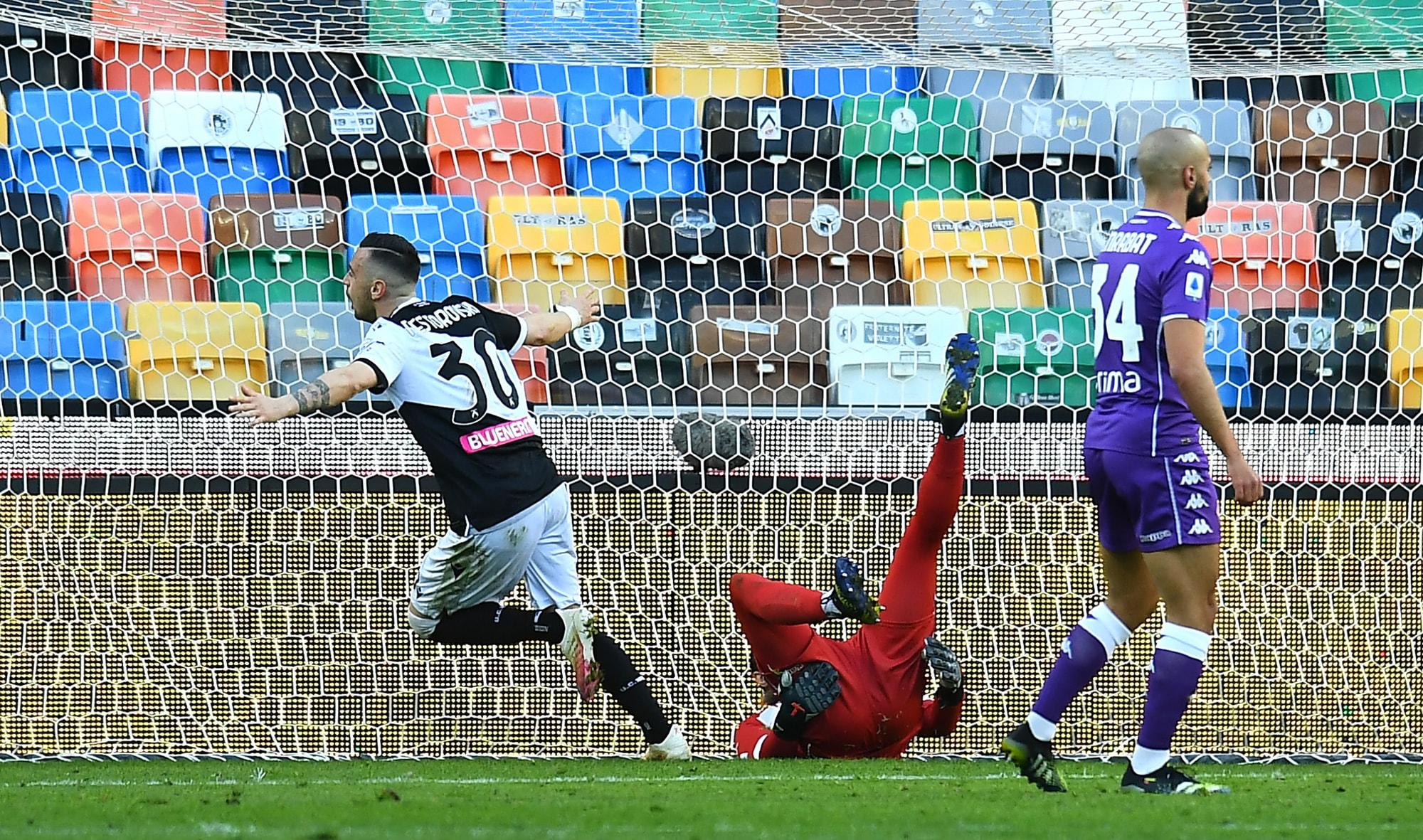 Udinese all'ultimo respiro: Nestorovski condanna la Fiorentina