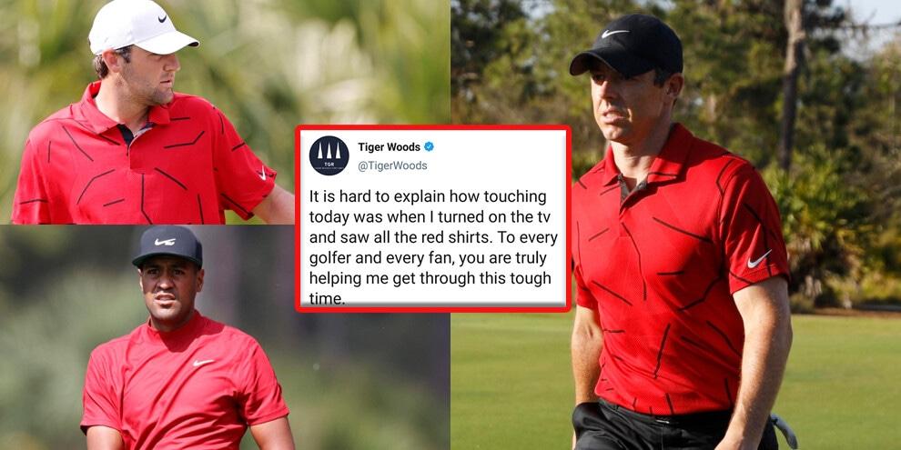 Golfisti in rosso: l'omaggio a Tiger Woods!