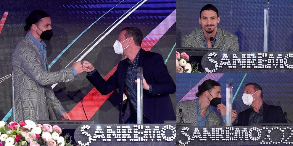 Ibrahimovic, la prima conferenza di Sanremo è già uno show