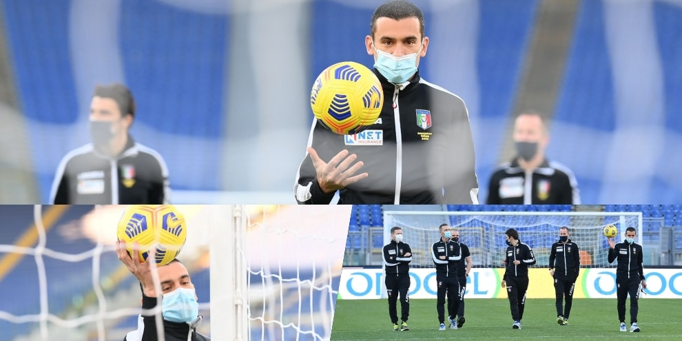 Lazio-Torino: l'arbitro Piccinini e i suoi collaboratori in campo