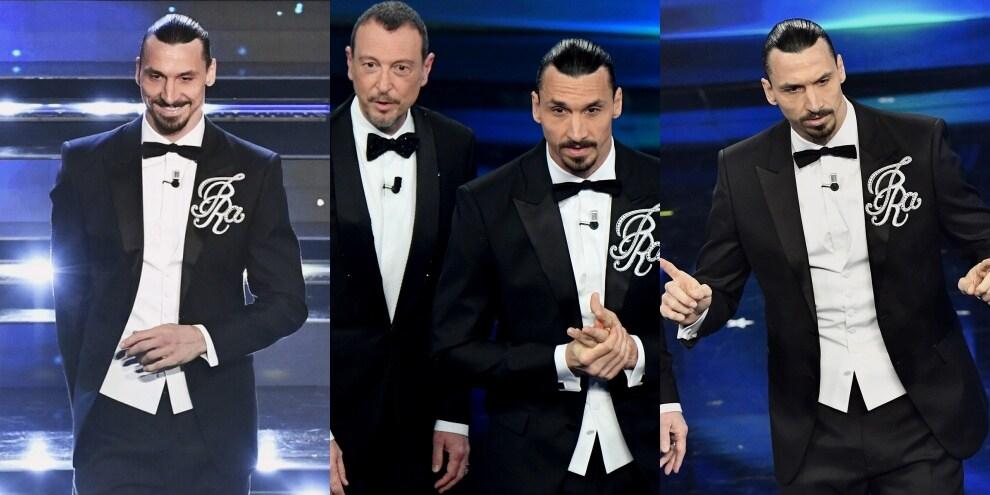 Ibrahimovic e la mega spilla con il nome: che esordio a Sanremo!