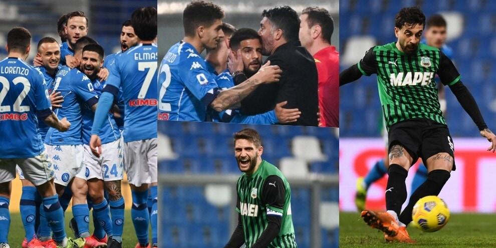 Sassuolo-Napoli all'ultimo respiro: due rigori, è 3-3 al 95'!