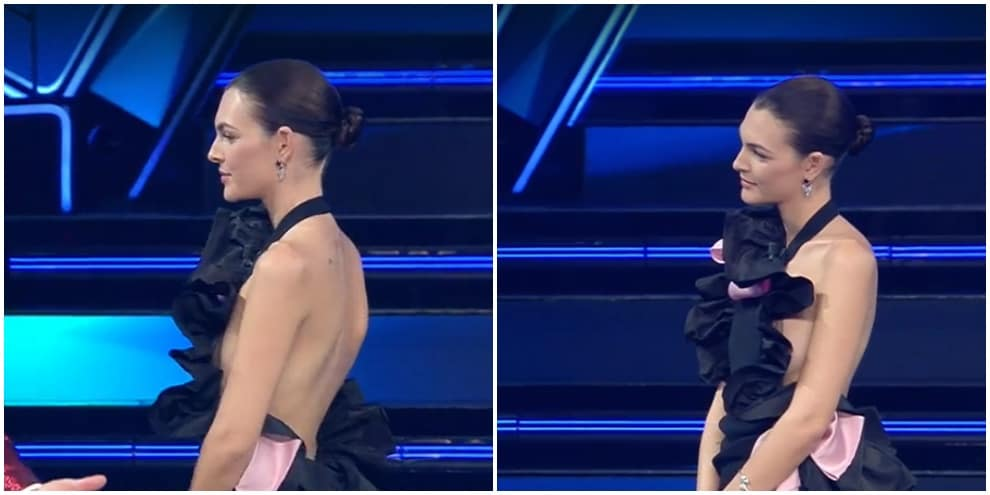 Vittoria Ceretti, il vestito la tradisce. Anche la modella come Elodie...