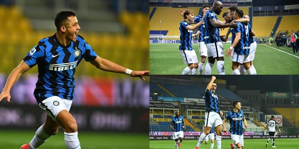 Show di Sanchez: l'Inter batte il Parma e va in fuga