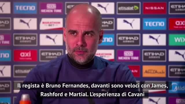 """Guardiola: """"Cavani? Tra i giocatori che stimo di più"""""""