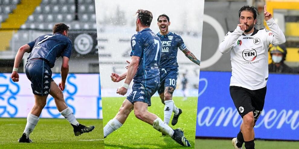 Gaich, primo gol italiano in Spezia-Benevento! Pari di Verde