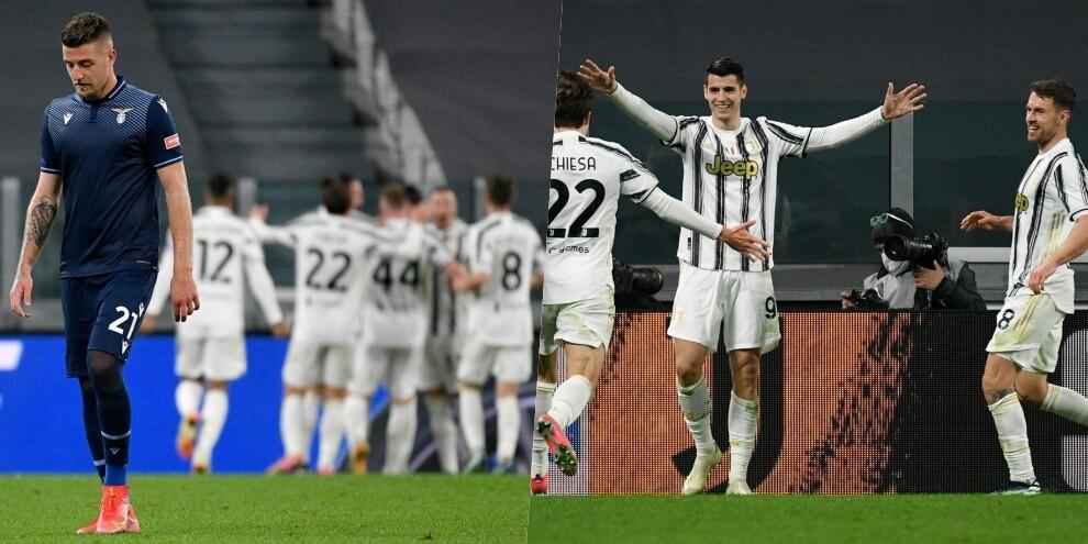 La Lazio sparisce subito: Morata fa volare la Juve