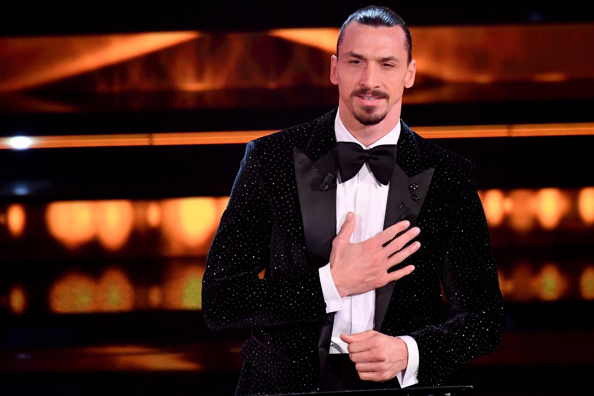 Ibrahimovic, monologo a Sanremo per ringraziare l'Italia