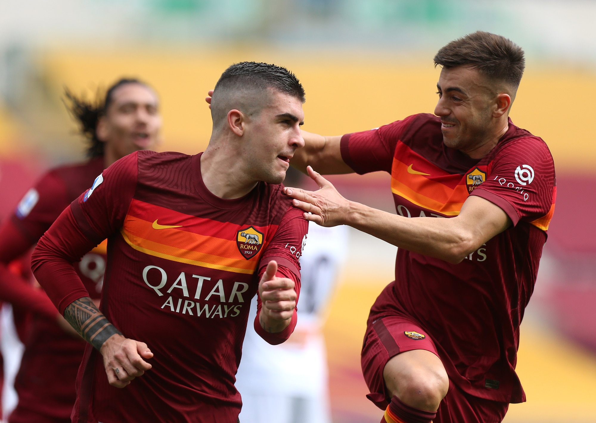Mancini vola in cielo e batte Marchetti: Roma-Genoa 1-0