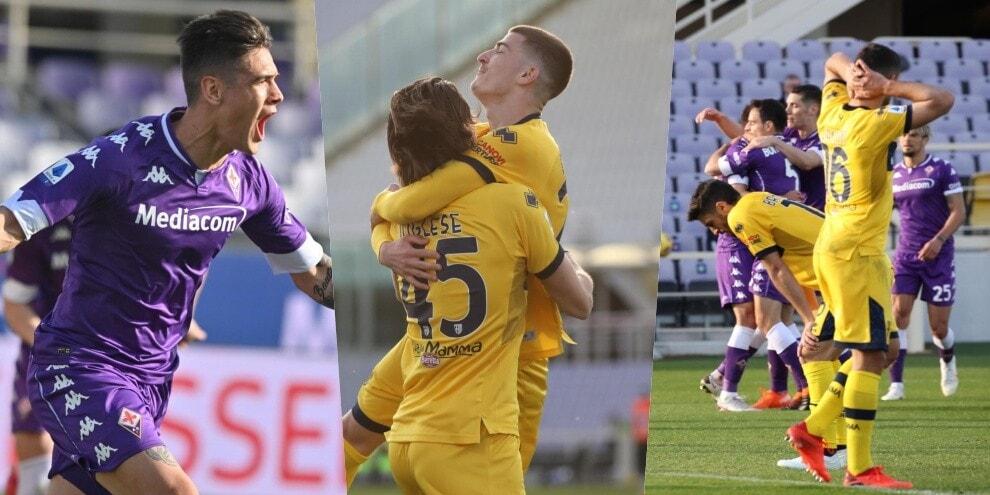 Il finale di Fiorentina-Parma è incredibile: autogol e 3-3!