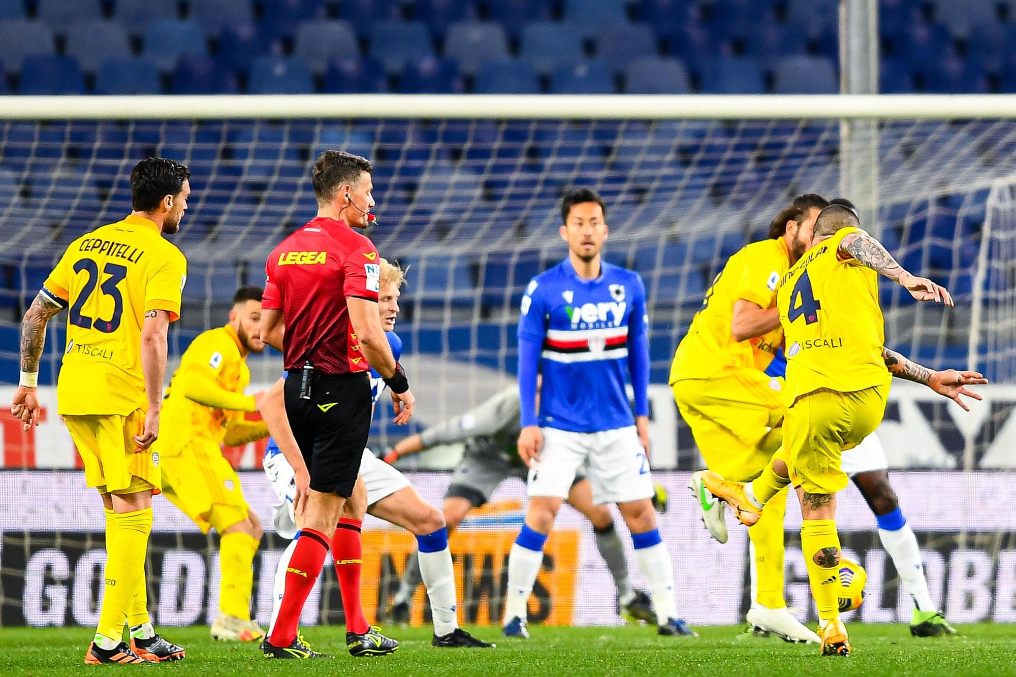 Nainggolan allo scadere! Il Cagliari rimonta la Sampdoria nel finale