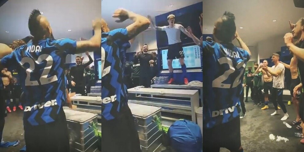 Inter, cori contro il Milan e festa scatenata nello spogliatoio!