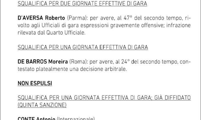Inter, a Torino senza Conte: squalificato 1 giornata