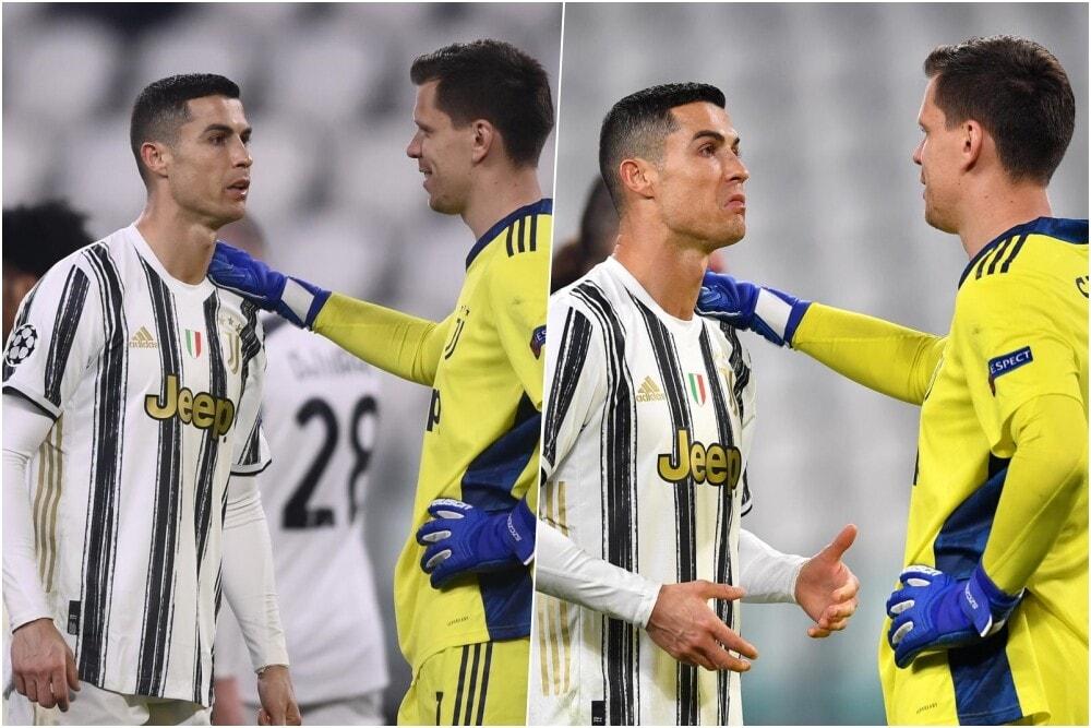 Juve-Porto, Ronaldo dà consigli a Szczesny prima del rigore