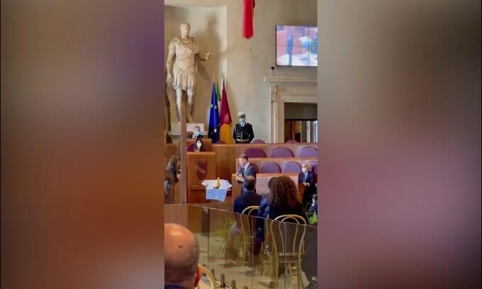 Lazio, il discorso di Immobile in Campidoglio