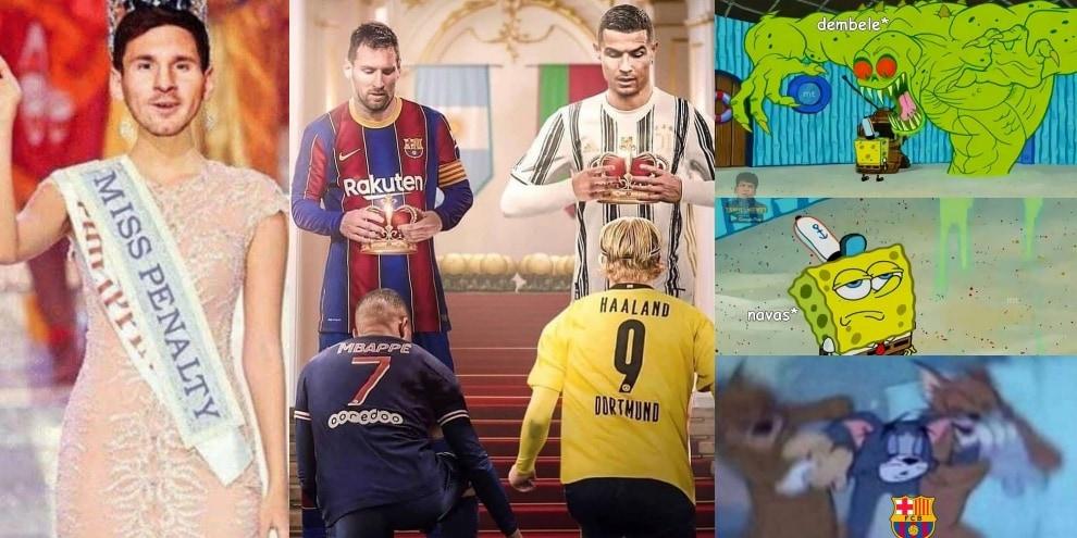 Messi cede la corona: le ironie dei social dopo Psg-Barcellona