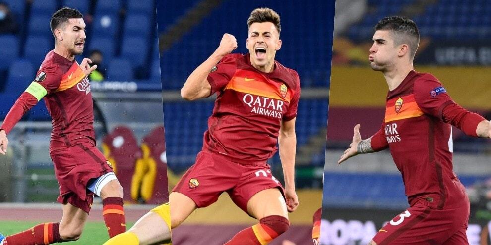 Roma, che tris allo Shakhtar: bomber Mancini, riecco El Shaarawy