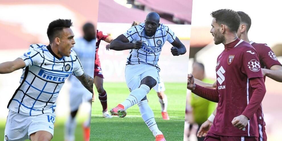 Lukaku su rigore, Lautaro incorna il Torino: l'Inter non si ferma