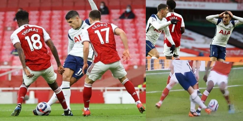 Lamela, le immagini del gol di rabona nel derby inglese