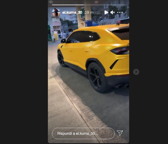 Babacar, ecco la sua nuova Lamborghini Urus in giallo