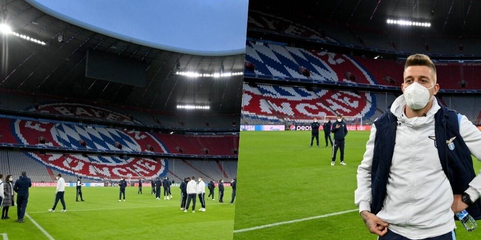 Lazio, ecco l'Allianz Arena: primo assaggio dello stadio
