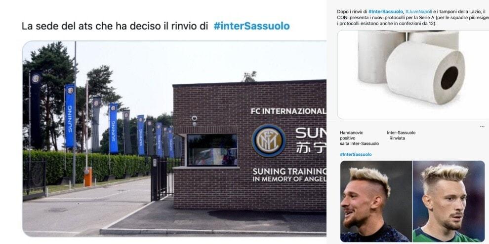 """Inter-Sassuolo rinviata, social impazziti: """"Povero Radu"""""""