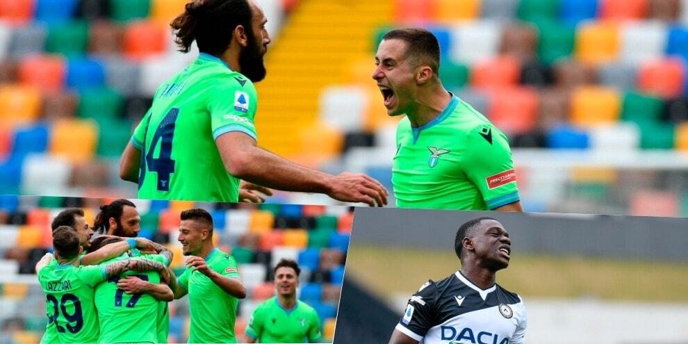 Lazio in corsa Champions: Marusic-gol, Udinese ko