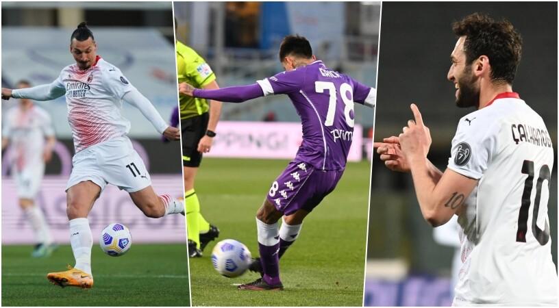 Fiorentina-Milan show: Ibra gol, magia di Pulgar, decide Calhanoglu