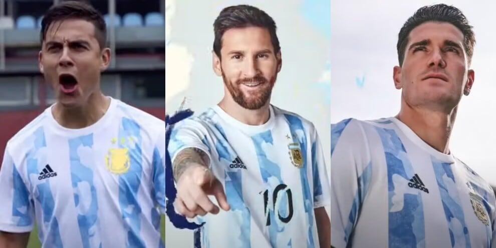 Dybala con Messi e De Paul: ecco la nuova maglia dell'Argentina