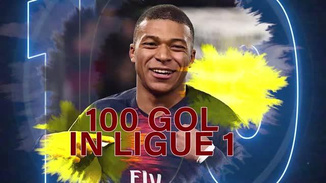 Fenomeno Mbappé, 100 gol in Ligue 1