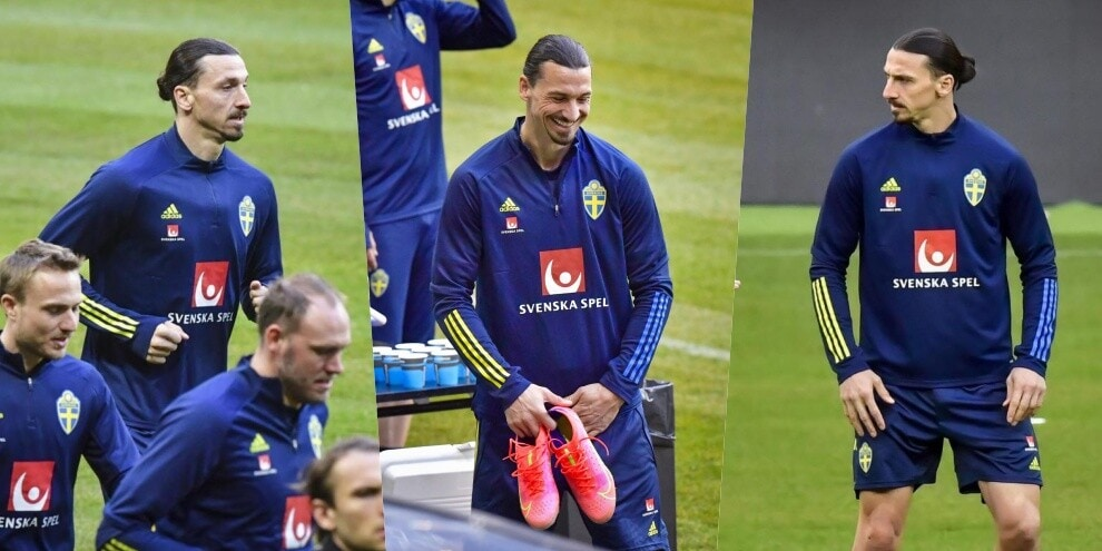 Ibrahimovic si riprende la Svezia: eccolo in allenamento!