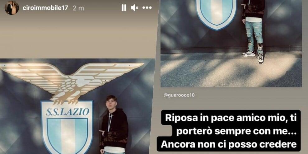 Morte Guerini, i giocatori della Lazio lo ricordano sui social