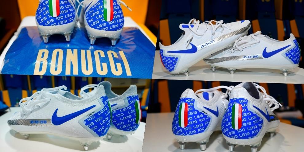 Bonucci, scarpini speciali per le 100 presenze con l'Italia