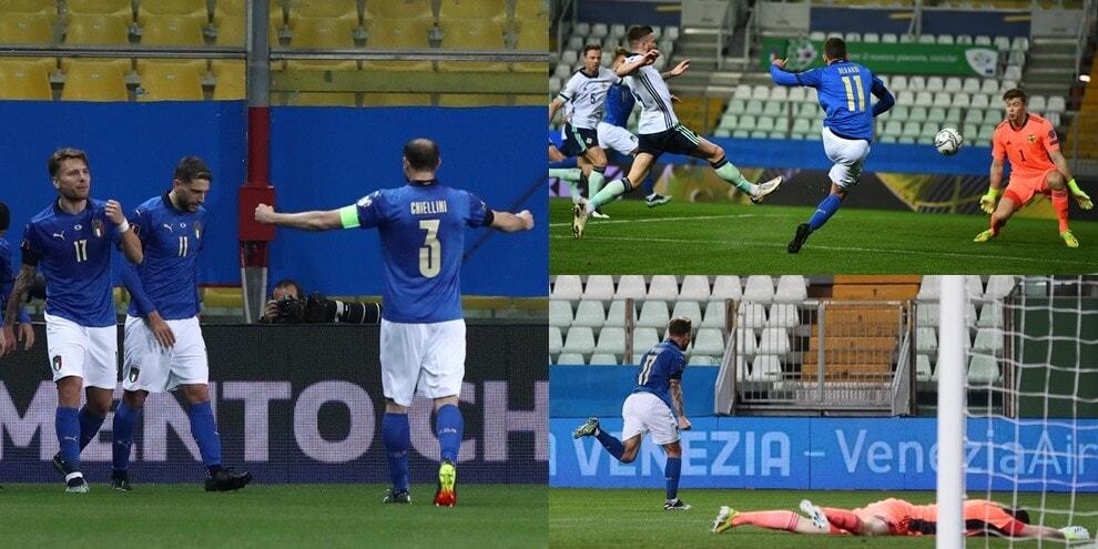 Perla di Berardi e sassata di Immobile: Italia-Irlanda del Nord 2-0