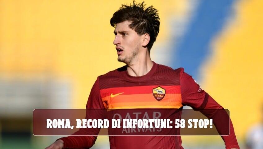 Roma, record di infortuni: 58 stop in questa stagione!